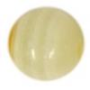 Semi-Precious 10mm Round Yellow Lace Onyx